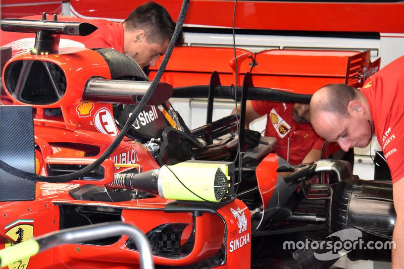Ferrari SF71H engine view
