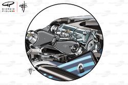Amortisseur de la Mercedes W09
