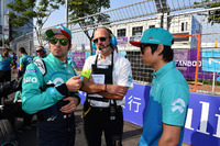 Luca Filippi, NIO Formula E Team, Ma Qinghua, NIO Formula E Team ,on the grid