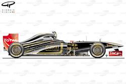 Lotus Renault R31 side view, Malaysian GP