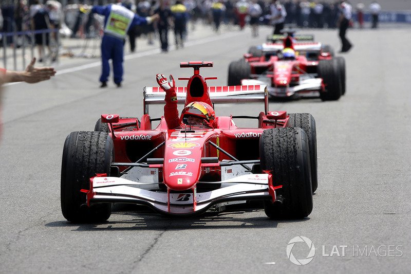 Yarış galibi Michael Schumacher, Ferrari