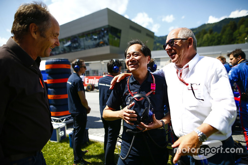 Toyoharu Tanabe, directeur techique F1 de Honda, et Gerhard Berger