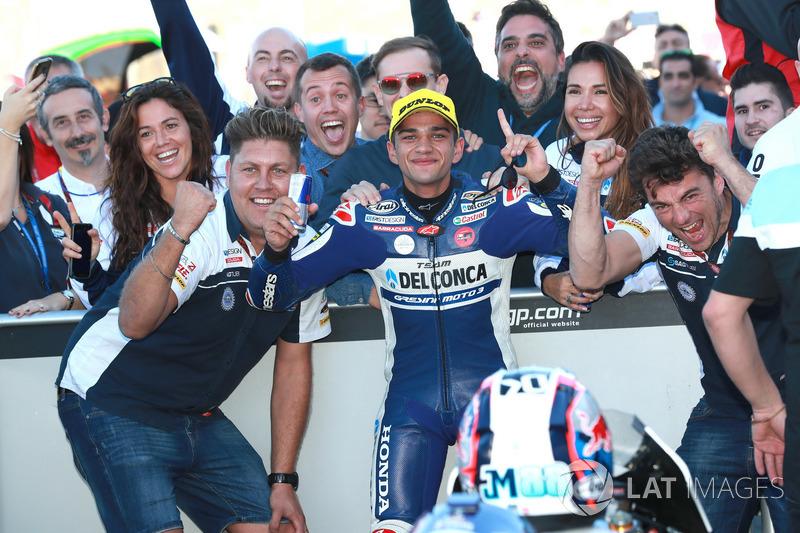Race winner Jorge Martin, Del Conca Gresini Racing Moto3