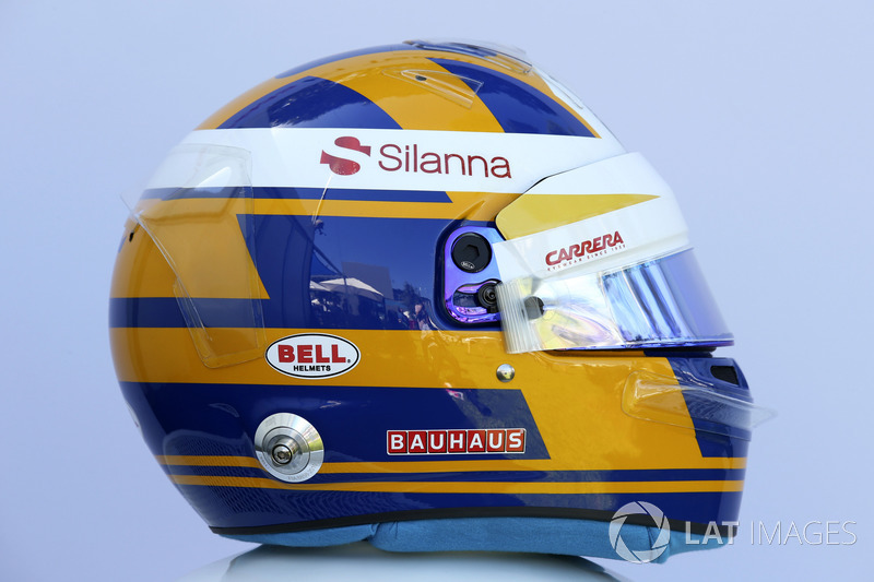 Le casque de Marcus Ericsson, Sauber