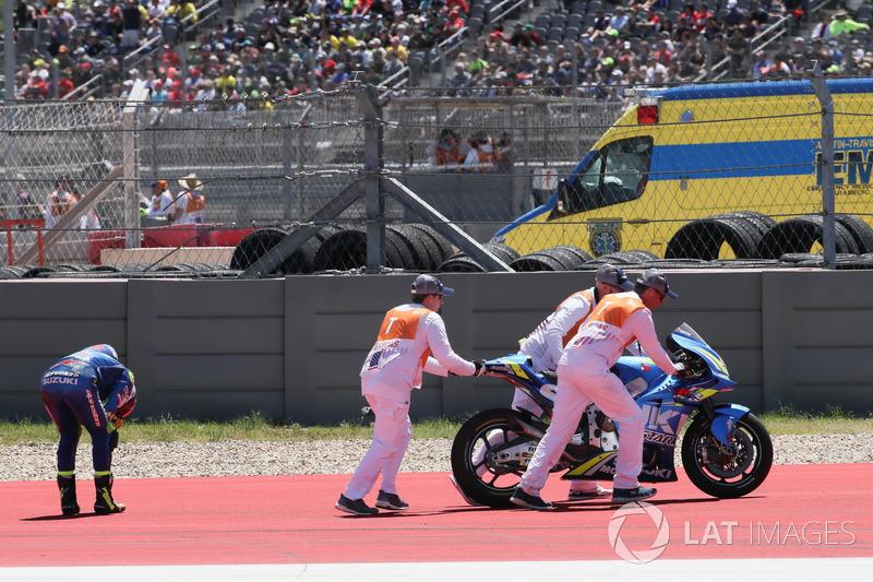 Alex Rins, Team Suzuki MotoGP (12 kecelakaan)
