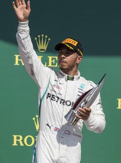 Lewis Hamilton, Mercedes-AMG F1 celebrates on the podium