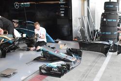 L'aileron avant de la Mercedes AMG F1 W09