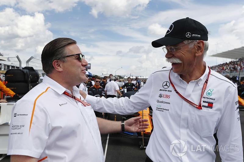 Zak Brown, CEO de McLaren Technology Group, y Dr Dieter Zetsche, CEO de Mercedes Benz