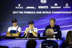 Lance Stroll, Williams,Felipe Massa, Williams, Marcus Ericsson, Sauber, in the press conference