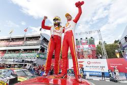 Race winners Alexandre Prémat, Scott McLaughlin, DJR Team Penske