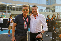 Eric Boullier, Racing Director, McLaren, TV Chef Gordon Ramsey