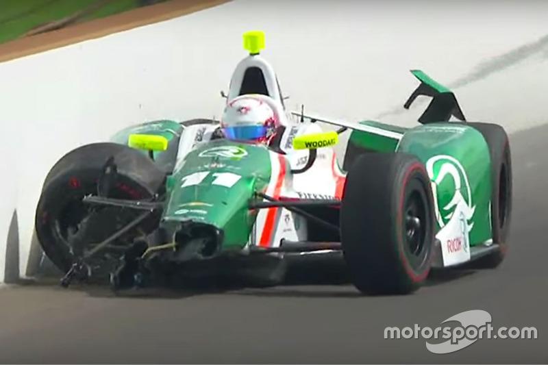 Choque de Spencer Pigot, Juncos Racing Chevrolet