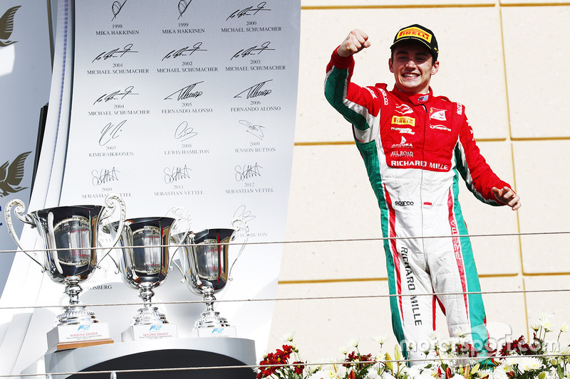 Race winner Charles Leclerc, PREMA Racing