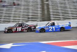 Noah Gragson, Kyle Busch Motorsports Toyota, Johnny Sauter, GMS Racing Chevrolet
