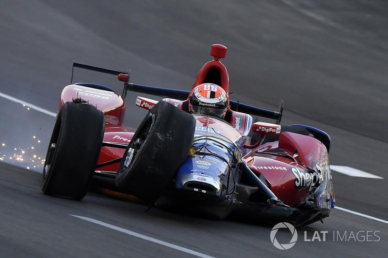 Crash d'Alexander Rossi, Herta - Andretti Autosport Honda