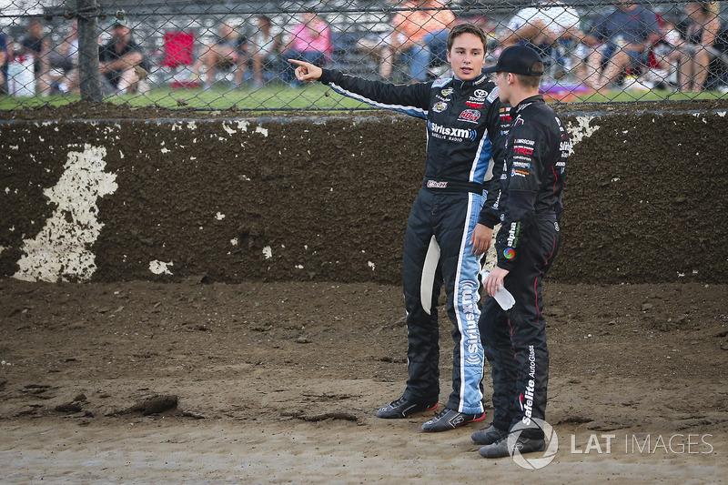 Christopher Bell, Kyle Busch Motorsports Toyota y Ben Rhodes, ThorSport Racing Toyota