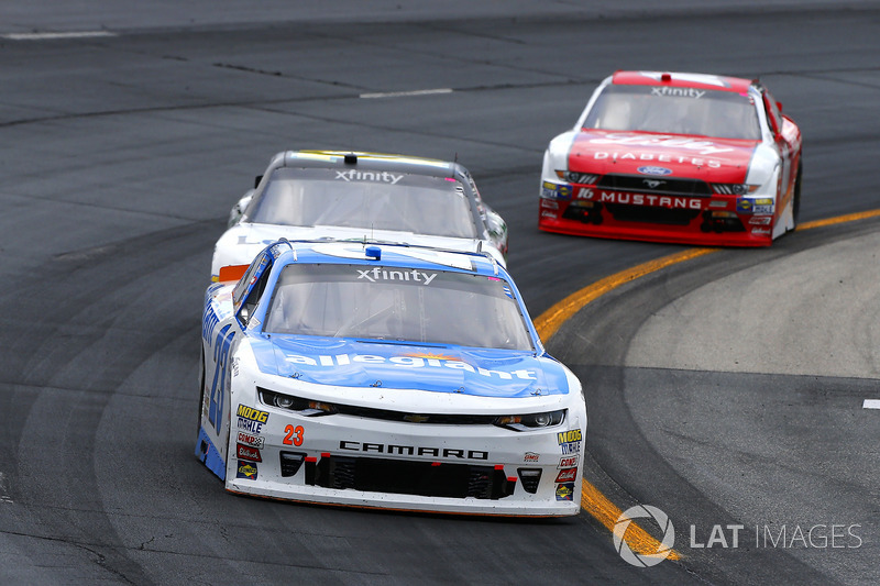 Spencer Gallagher, GMS Racing Chevrolet, Blake Koch, Kaulig Racing Chevrolet