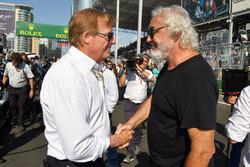Danny Sullivan, FIA Steward, Flavio Briatore
