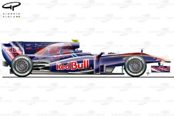 STR4 (Red Bull RB5) 2009 launch side view