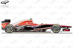 Marussia MR02 side view