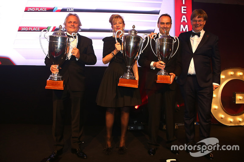 2016 Copa Endurance Pro-AM Copa equipos, Kessel Racing, primer lugar, ISR, segundo lugar, AF Corse,