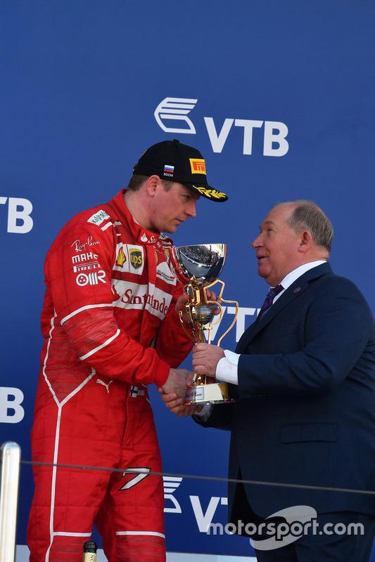 Viktor Kiryanov, President of the Russian Automobile Federation, Kimi Raikkonen, Ferrari