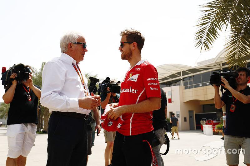 Себастьян Феттель, Ferrari, гоночний директор FIA Чарлі Вайтінг