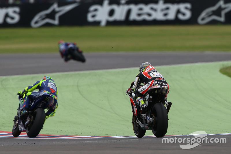 Maverick Viñales, Yamaha Factory Racing; Valentino Rossi, Yamaha Factory Racing; Cal Crutchlow, Team