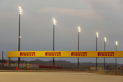 Floodlights around the circuit