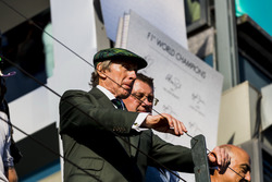 Sir Jackie Stewart on the podium