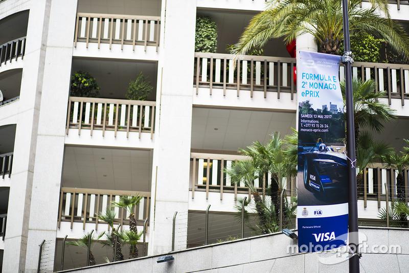 Formula E promotion signage