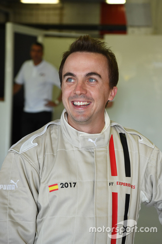 F1 Experiences 2-Seater passenger Frankie Muniz, Actor