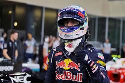 Daniel Ricciardo, Red Bull Racing celebrates his third position in qualifying parc ferme