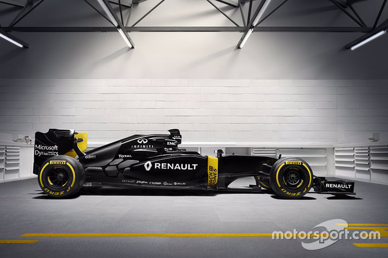 Renault RS16, tal como se presentó el 03 de febrero de 2016