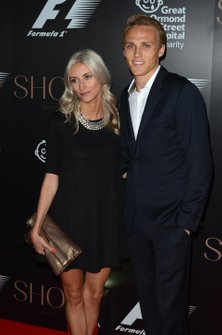 Max Chilton with his girlfriend Chloe Roberts
