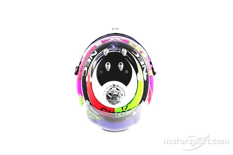 Il casco speciale di Sergio Pérez, Racing Point Force India, per il GP del Messico