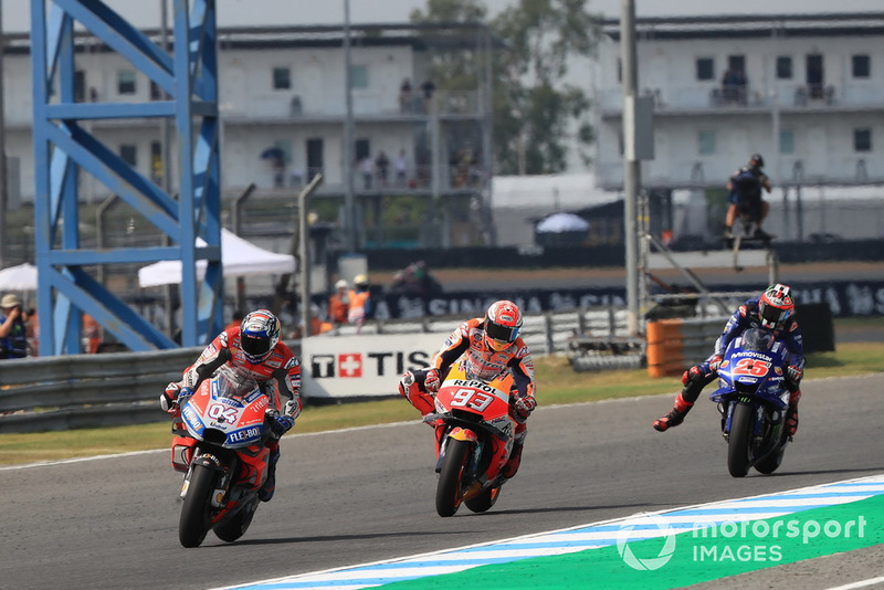 Андреа Довіціозо, Ducati Team, Марк Маркес, Repsol Honda Team, Маверік Віньялес, Yamaha Factory Racing