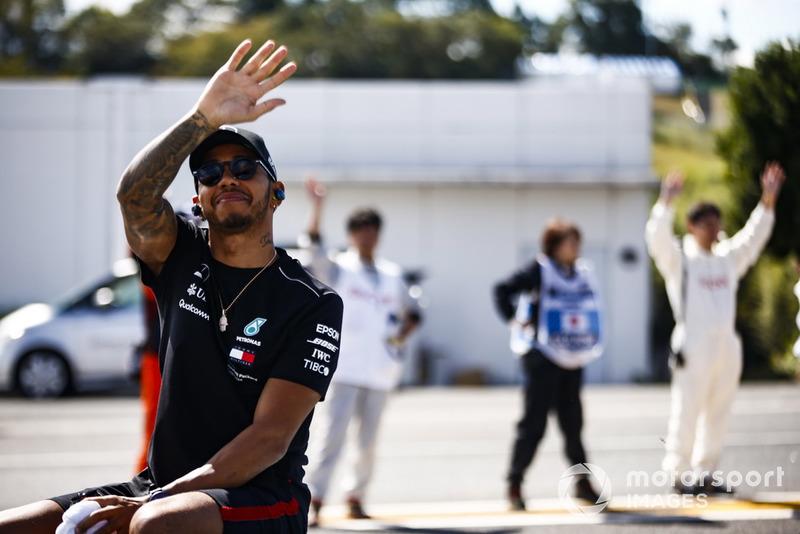 Lewis Hamilton, Mercedes AMG F1, durante la drivers parade