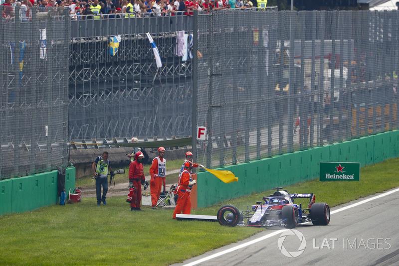 Abandon : Brendon Hartley (Toro Rosso)
