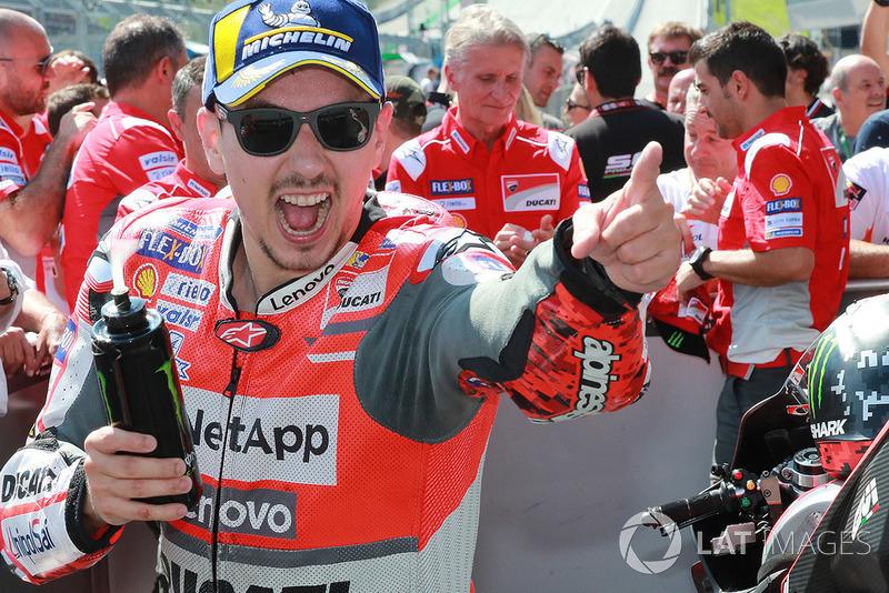 Переможець гонки Хорхе Лоренсо, Ducati Team