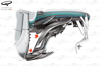 Mercedes F1 W09, barge board