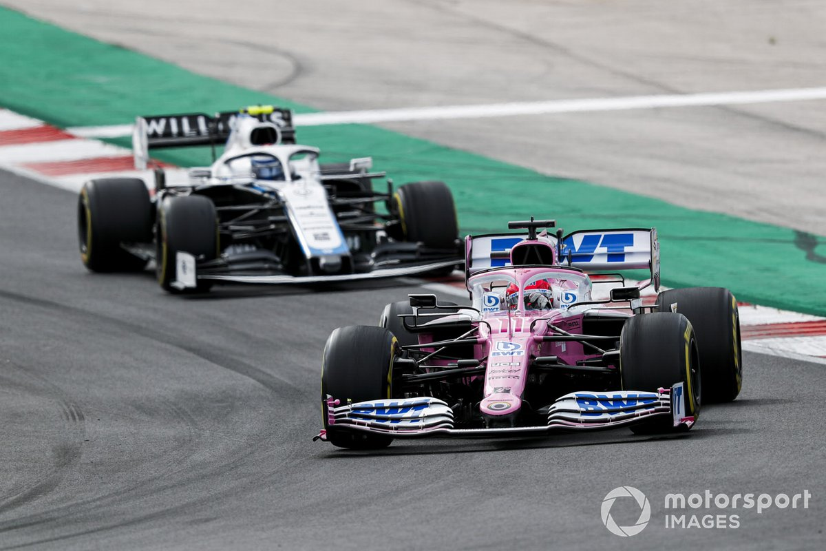 Sergio Perez, Racing Point RP20, Nicholas Latifi, Williams FW43