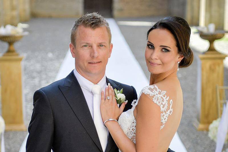 Kimi Raikkonen e Minttu Virtanen foto del matrimoni