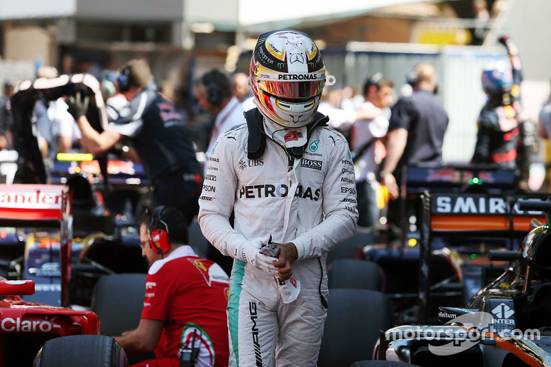 Lewis Hamilton, Mercedes AMG F1 nel parco chiuso delle qualifiche