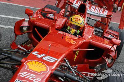 Valentino Rossi, test con la Ferrari