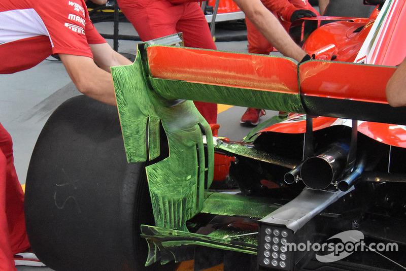 Ferrari flo-vis rear wing technical detail