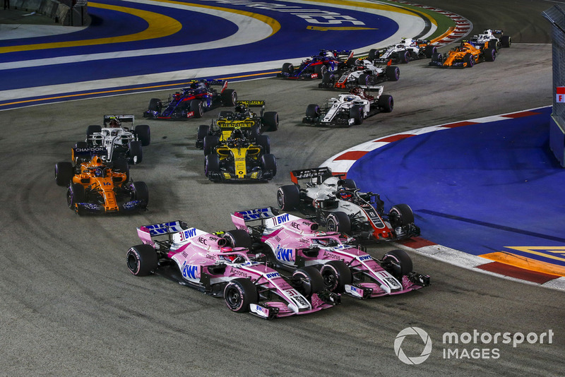 12: Esteban Ocon & Sergio Perez (Force India)