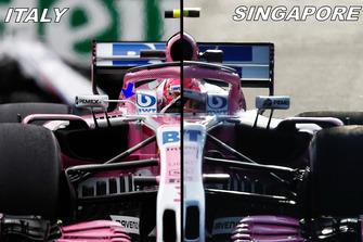 Comparaison des rétroviseurs de la Force India VJM11