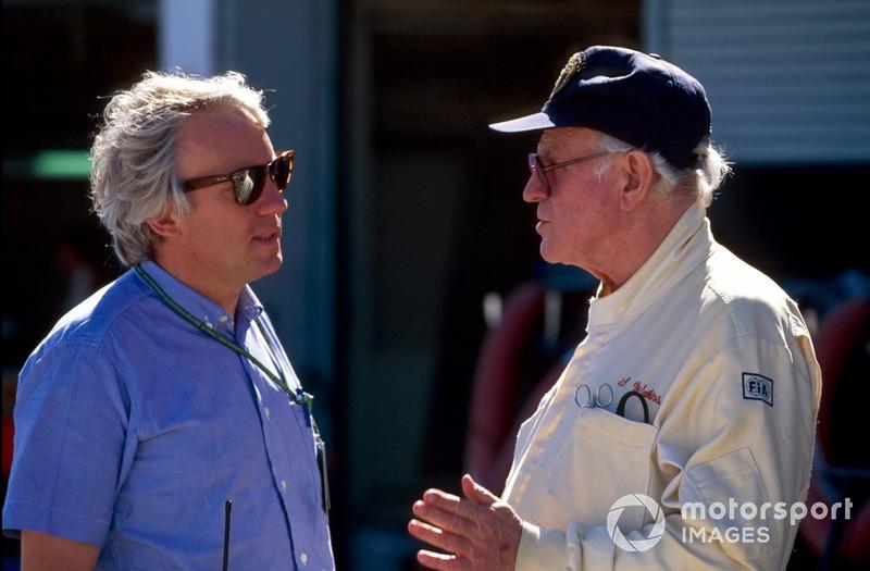 Charlie Whiting, Direttore di gara FIA, parla con il Professor Sid Watkins, Delegato Sicurezza FIA