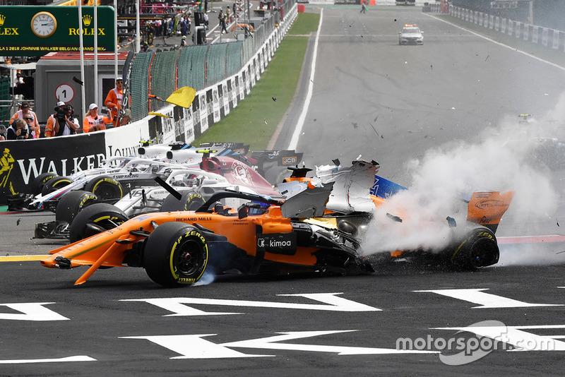 Accidente de Fernando Alonso, McLaren MCL33